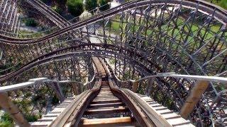 Rampage Wooden Roller Coaster Pov Alabama Adventure Visionland