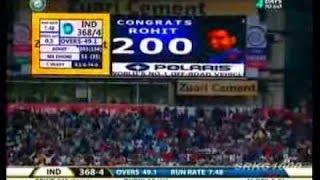 Rohit Sharma score double ton (209) in ODI Match vs strong team Australia