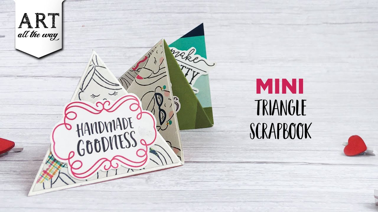 Mini Triangle Scrapbook | Handmade Album | Journaling design inspiration | DIY Desk Decor | Gifts
