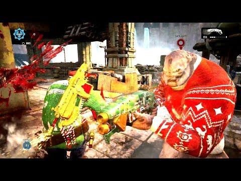 I SWEAR I'M NOT ON CRACK! (Gears of War 4) Gearsmas Sweater Dizzy Multiplayer Gameplay!