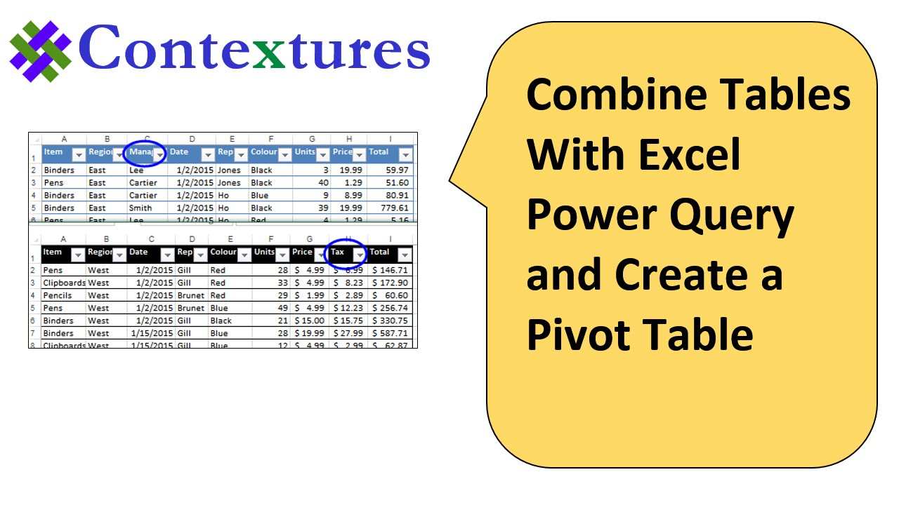 math worksheet : combine tables with excel power query and create pivot table  youtube : Create Pivot Table From Multiple Worksheets