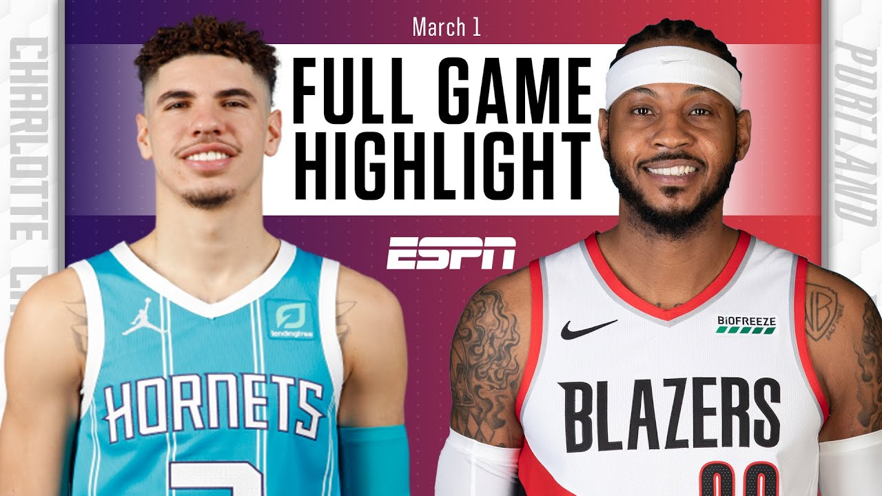 Download Melo vs. Melo: LaMelo Ball, Carmelo Anthony duel in Hornets vs. Blazers [HIGHLIGHTS] | NBA on ESPN