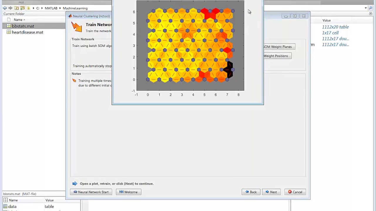 MATLAB skills, machine learning, sect 20: Self Organizing Maps,  Interactively Creating SOMs