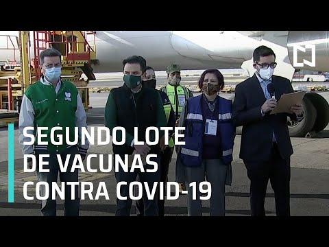 Segundo lote de vacunas contra COVID-19 llega a México - Sábados de Foro