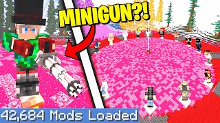 Minecraft Hunger Games on the Largest Modpack Possible