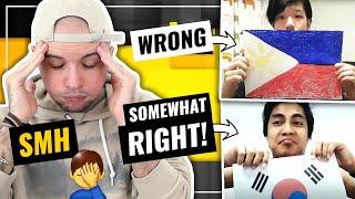 Korean SPITS/RIPS Philippines Flag 🤦🏻♂️ when Pinoy RESPECTS Korean flag 👏🏻 | HONEST REACTION
