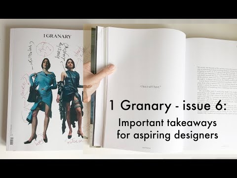 1 Granary - issue 6: takeaways for aspiring designers