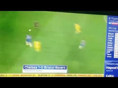 Michy Batshuayi Goal Chelsea vs Bristol Rovers 1-0 HD