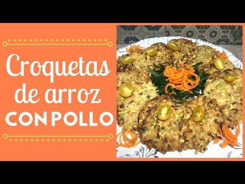 Croquetas de arroz con pollo | Cocina de Addy