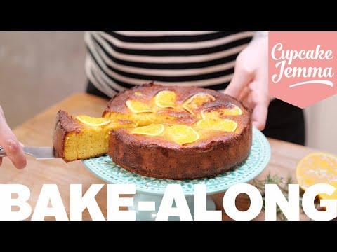 GLUTEN FREE Orange & Almond Cake Bake-along!   Cupcake Jemma