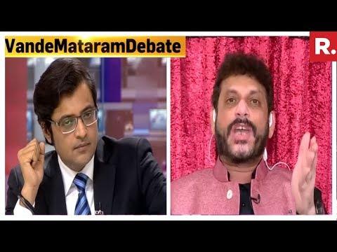 Arnab Goswami Hammers Waris Pathan | HEATED Discussion On Vande Mataram