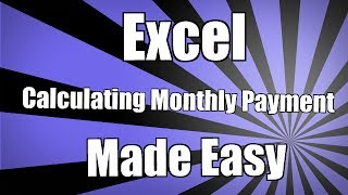 how to calculate a monthly payment in excel 2010 monthly payment formula in excel