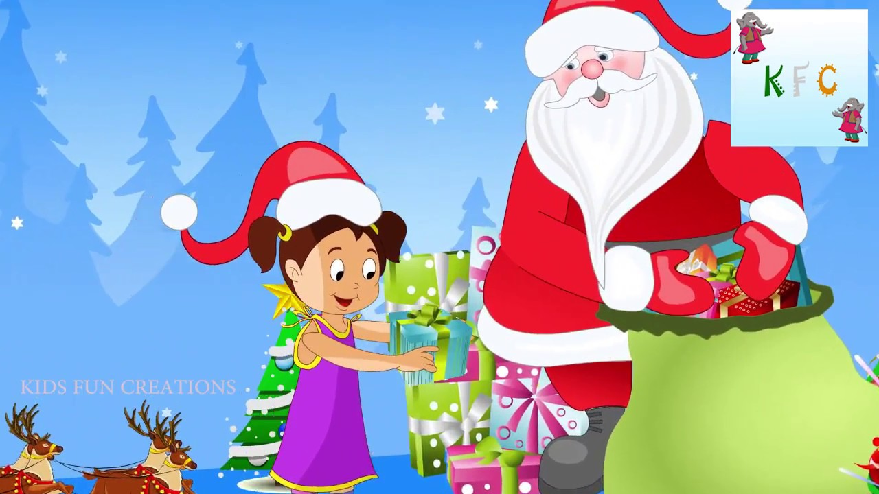 Santa claus giving gifts to children youtube santa claus giving gifts to children negle Choice Image