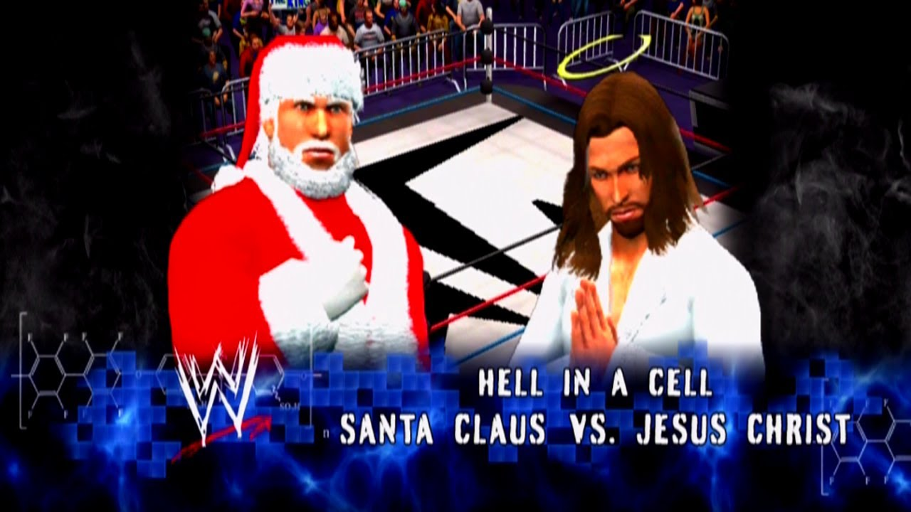 santa clause vs jesus christ christmas special wwe 13 youtube - Santa And Jesus