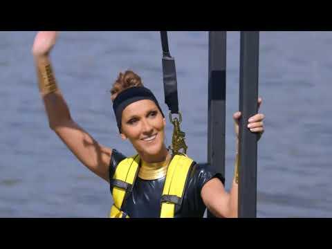 Julie Snyder et Céline Dion en ski nautique pour l'ouverture de L'Été Indien en 2014