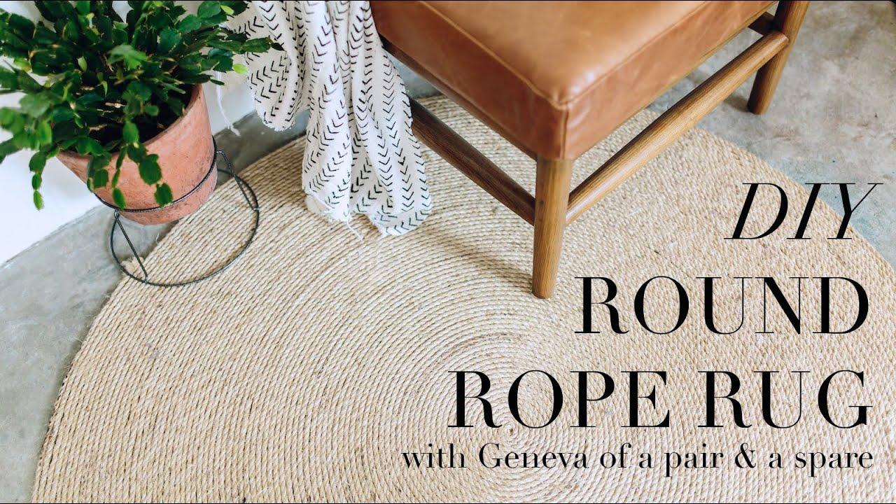 DIY Round Rope Rug - YouTube