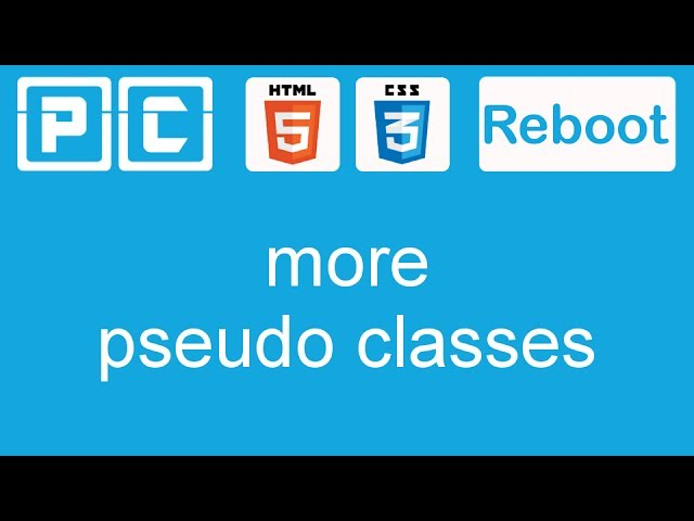 HTML5 and CSS3 beginners tutorial 25 - more pseudo classes