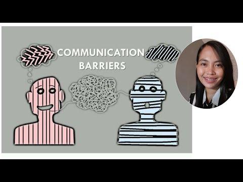 Communication Barrier | Oral Comm