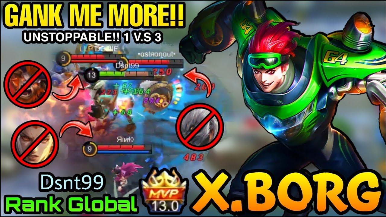 Gank Me More X Borg Moto Drifter Perfect Plays Top Global X