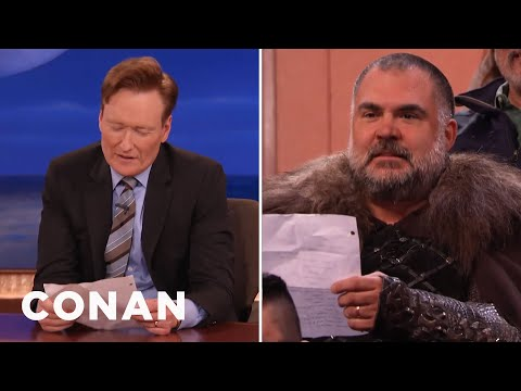 Conan Reenacts A Scene From TV's Greatest Show  - CONAN on TBS