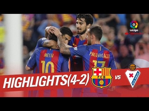 Thumbnail: Resumen de FC Barcelona vs SD Eibar (4-2)