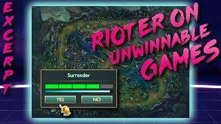 Rioter talks about unwinnable League games | Hotline League Excerpt