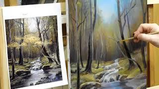 Пишем осенний лес.Часть 2-я