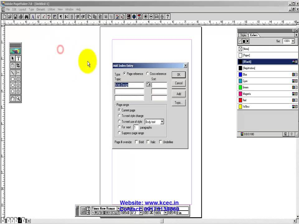 Pagemaker Tutorial In Hindi 17 Final Work Page Maker Index