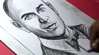 How to Draw American rapper PITBULL Drawing