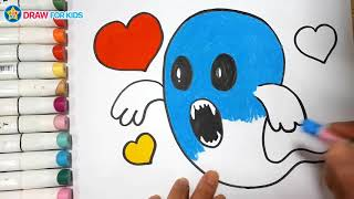 How To Draw A Ghost    Draw For Kids