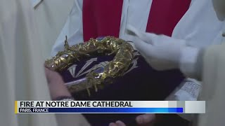 Relics of Notre Dame salvaged from the fire