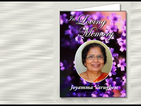 Joyamma Varughese (Viewing Service on May 18th Wednesday @ 6:00 pm)