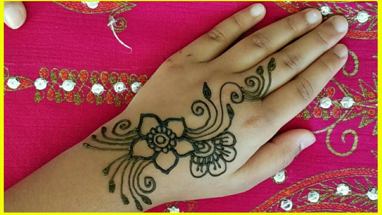 back hand mehndi design for kids