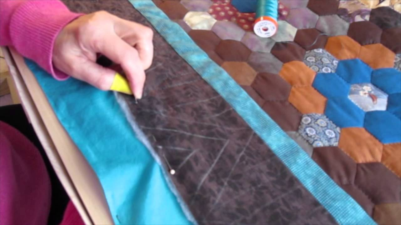 Hand Quilting on a Floor Frame in a Small Room - YouTube