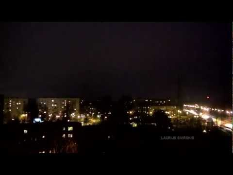 14 HOURS IN 99 SECONDS | Weather time lapse | Riga, Latvia | 14 December 2011