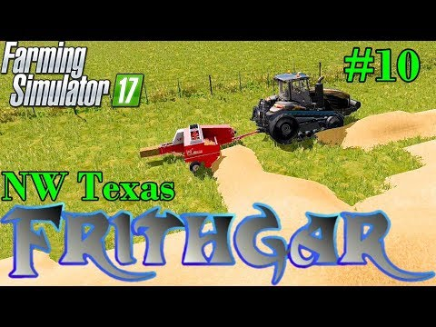 Let's Play Farming Simulator 2017, North West Texas #10: Small Bales Done Right!