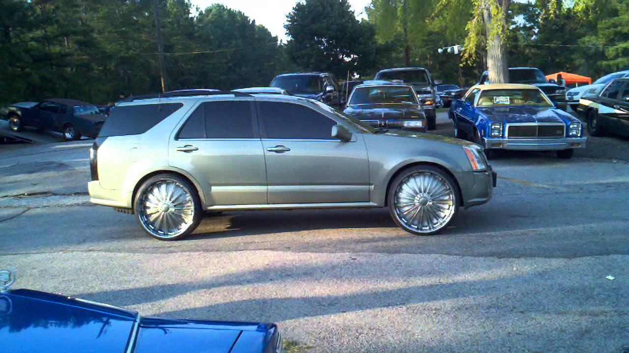 Cadillac Srx On 24inch Dub Flash Rims Youtube