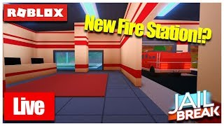 🔴 Roblox Live 🔴 JAILBREAK NEW FIRE STATION AND HELI BOMBS💣 l Come And Join Us🔥