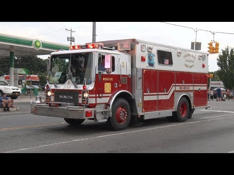 2017 East Northport,NY Fire Department Firemen's Fair Parade 8/2/17