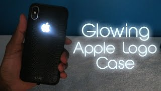 Iphone X Glowing Apple Logo