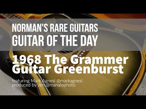 Norman's Rare Guitars - Guitar of the Day: 1968 The Grammer Guitar Greenburst