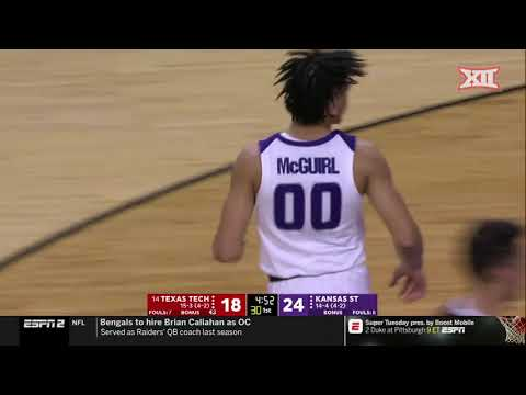 Kansas State vs Texas Tech Men's Basketball Highlights