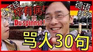 """德语骂人/德語脏话: 30种""""你有病!"""" 的德语说法-du spinnst! 保证你看完后再不会说德语单调了!德语学习华桥之声视频, 有中国德国字幕。S023"""