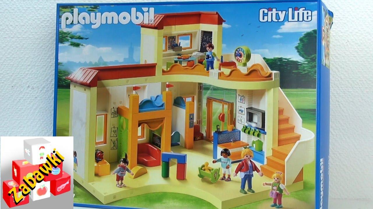 Playmobil zestaw przedszkole budowanie zestawu youtube for Casa moderna 4279