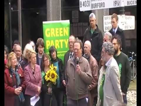 Larry Sanders launching Oxfordshire Green Party county council election campaign 2013