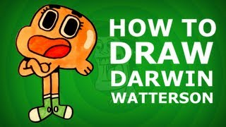 How to draw Darwin Watterson - The Amazing World of Gumball