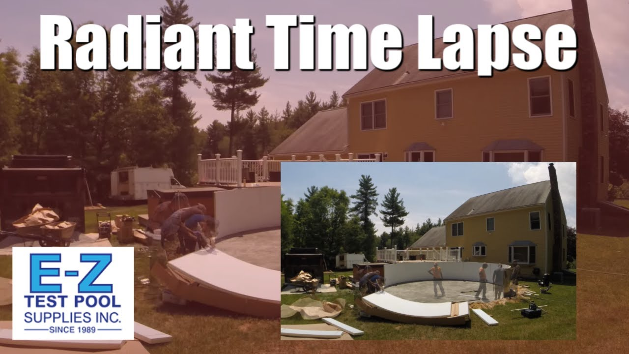 Time lapse swimming pool construction of radiant metric - Length of swimming pool in meters ...