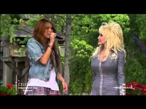 Miley Cyrus And Dolly Parton Jolene Hd Live Dollywood 2010 Youtube