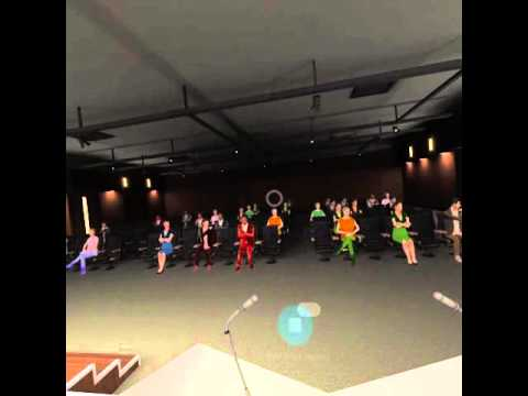 "Presentation practice in Samsung Gear VR, ""public speaking simulator"""