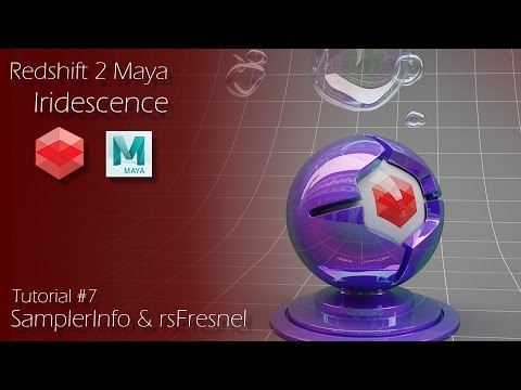 Redshift 2 Maya - Tutorial #7 - Iridescence - Samplerinfo and rsFresnel Nodes
